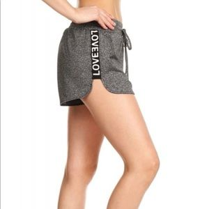 "Pants - Gray ""love"" shorts"